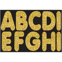 ASH17004 - Gold Sparkle 2-3/4In Magnetic Letters in General