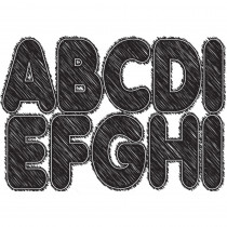 ASH17006 - Blk Scribble Chalk 2.75In Designer Magnetic Letters in General