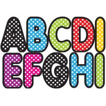 ASH17013 - Assorted Color Polka Dot 2-3/4In Designer Magnetic Letters in General