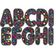 ASH17014 - Black Scribble Chalk Color Dots 2.75In Designer Magnetic Letters in General