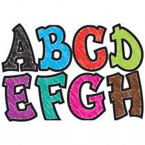 ASH17018 - Modern Hip Asst Chalk Colors 2.75In Designer Magnetic Letters in General