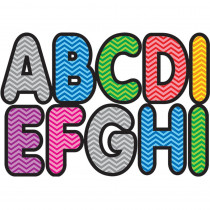 ASH17022 - Assorted Color Chevron 2-3/4In Designer Magnetic Letters in General