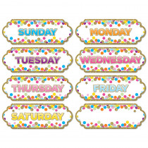ASH19006 - Magnetic Confetti Days The Week in Name Plates