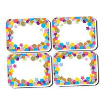 ASH78008 - Mini Erasers Confetti Pattern 10 Pk Non Magnetic Whiteboard in Erasers