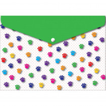 ASH90604 - 6 Pk Folder W/ Snap 95X13 Paws Colorful in Folders