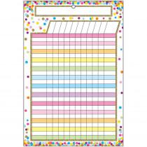 ASH91042 - Smart Confetti Incentive Chart Dry-Erase Surface in Classroom Theme
