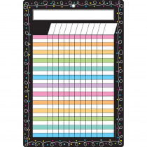 ASH91049 - Smart Chalk Dots W/ Loops Incentive Chart Dry-Erase Surface in Classroom Theme