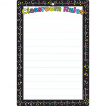 ASH91051 - Chalk Dots W/ Loops Classroom Rules Dry-Erase Surface in Classroom Theme