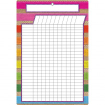 ASH91054 - Smart Burlap Stitched Incentive Chart Dry-Erase Surface in Classroom Theme