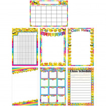 ASH91200 - Emoji Charts 13X19 Asst Style 7Pk Poly in Motivational