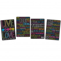 ASH91204 - 4 Pk Motivational Classroom Charts Smart Poly in Motivational