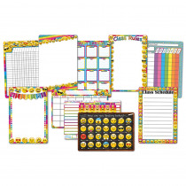 ASH91209 - 10 Pk Emoji Classroom Charts 13X19 Smart Poly in Classroom Theme