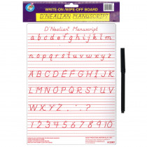 ASH912DMT - Dnealian Manuscript Write-On Wipe-Off Board 9 X 12 in Dry Erase Boards