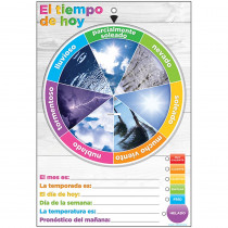 ASH91602 - Wheel Poly Chart Weather Spanish Dry-Erase Surface in Classroom Theme