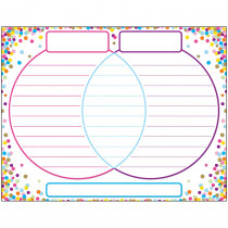 ASH92019 - Chart Venn Diagram Confetti Dry-Erase Surface in Classroom Theme