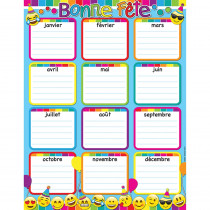 ASH93000 - Fr Bday Chalkboard Dry Erase Gl 45 Smart Chart Surface 17X22 in Multilingual