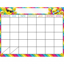 ASH93001 - French Calendar Dry Erase Glossy 45 Smart Chart Surface 17X22 in Multilingual