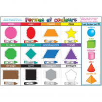 ASH93010 - Chart French Shapes And Colors Dry-Erase Surface in Classroom Theme