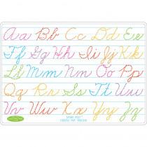 ASH95013 - Cursive Writing Learn Mat 2 Sided Write On Wipe Off in Handwriting Skills