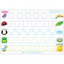 ASH95611 - 10Pk Prewrite Shapes Mat 2 Side Write On Wipe Off in Handwriting Skills