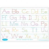 ASH95612 - 10Pk Manuscript Writing Mat 2 Side Write On Wipe Off in Handwriting Skills