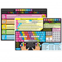 ASH95621 - 10Pk Keyboard Basics Learning Mat 2 Sided Write On Wipe Off in Computer Accessories