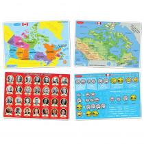ASH95803 - 4Pk Canadian Education Learnng Mats Smart Poly in Mats