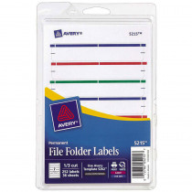 AVE05215 - Avery Print Or Write Assorted File Folder Labels in Organization