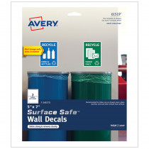 AVE61519 - Surface Safe Wall Decals 5In X 7In 6 Labels in Post It & Self-stick Notes