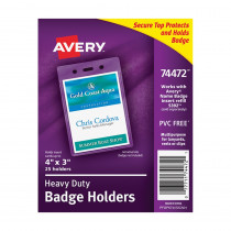 AVE74472 - Secure Top Badge Holders Portrait in Accessories