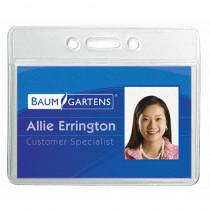 BAUM67810 - Name Badge Holder Horizontal 12Pk in Name Tags