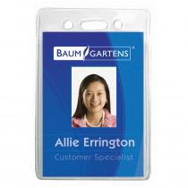 BAUM67820 - Name Badge Holder Vertical 12Pk in Name Tags