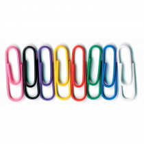 BAUMES5000 - Vinyl Coated Paper Clips No 1 Size 100Pk in Clips
