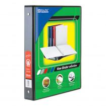 BAZ3122 - 3 Ring Binder W/ 2 Pockets 1In Blck in Folders