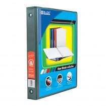 BAZ4122 - 3 Ring Binder W/ 2 Pockets 1In Grn in Folders