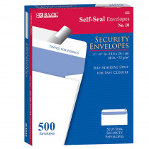 BAZ5064 - 10 Self Seal Security Envelopes in Mailroom