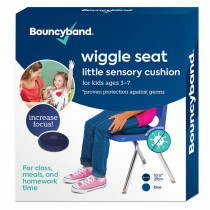 Antimicrobial Little Wiggle Seat Sensory Cushion, Blue 10.75 - BBAMB27BUWS | Bouncy Bands | Chairs""