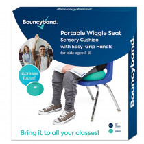 Portable Wiggle Seat Sensory Cushion, Green - BBAWSHAGR | Bouncy Bands | Chairs