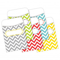 BCPLL1231 - Peel & Stick Pockets Chevron Beautiful Multi-Design Set in Library Cards