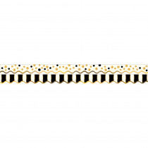 BCPLL902 - Gold Bars Border Double-Sided Scalloped Edge in Border/trimmer
