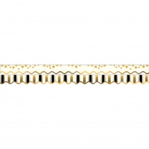 BCPLL903 - Gold Coins Border Double-Sided Scalloped Edge in Border/trimmer
