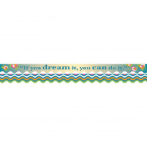 BCPLL904 - You Can Do It Border Double-Sided Scalloped Edge in Border/trimmer