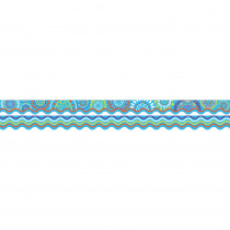 BCPLL975 - Moroccan Turquoise Border Double Sided Scalloped Edge in Border/trimmer
