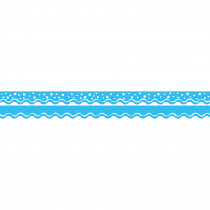 BCPLL992 - Happy Pool Blue Border Double-Sided Scalloped Edge in Border/trimmer