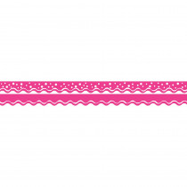 BCPLL996 - Happy Hot Pink Border Double-Sided Scalloped Edge in Border/trimmer