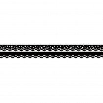 BCPLL999 - Happy Black Border Double-Sided Scalloped Edge in Border/trimmer