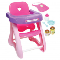 For Keeps! High Chair & Accessory Set - BER25500 | Jc Toys Group Inc | Doll House & Furniture