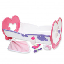 Deluxe Rocking Doll Crib & Accessories - BER81450 | Jc Toys Group Inc | Doll House & Furniture