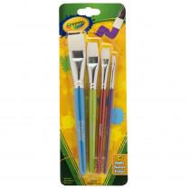 BIN053520 - Crayola Big Paintbrush Set Flat 4Pk in General