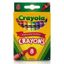 BIN3008 - Crayola Crayons 8 Color Peggable in Crayons